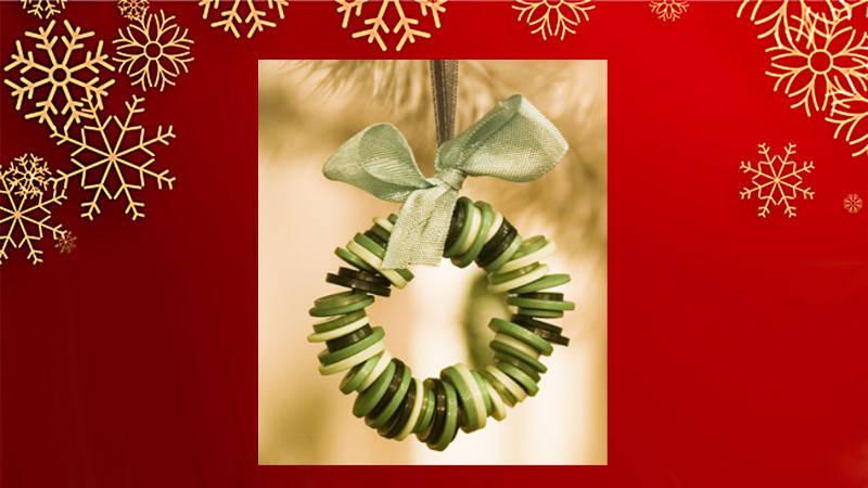 Espectaculares adornos navideños ¡Con Botones!