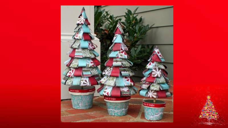 Haciendo con papel un Árbol de Navidad