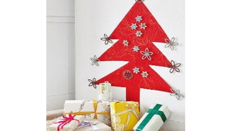 Crea una pared muy navideña en tu hogar