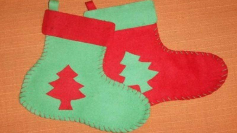 Espectaculares botas de Navidad ¡Con Fieltro!