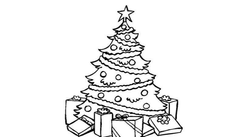 Árboles de Navidad y demás adornos para colorear con los más pequeños