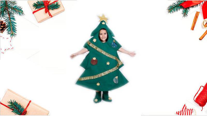 Cómo hacer un hermoso disfraz de arbolito navideño para niños