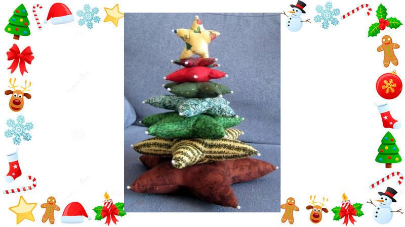 Haciendo un árbol de Navidad solo con ¡cojines!