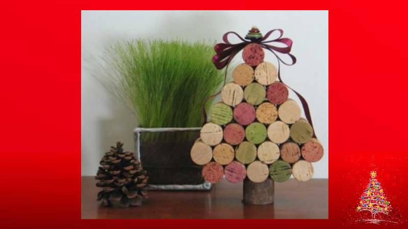 Haz con corchos un hermoso árbol de Navidad