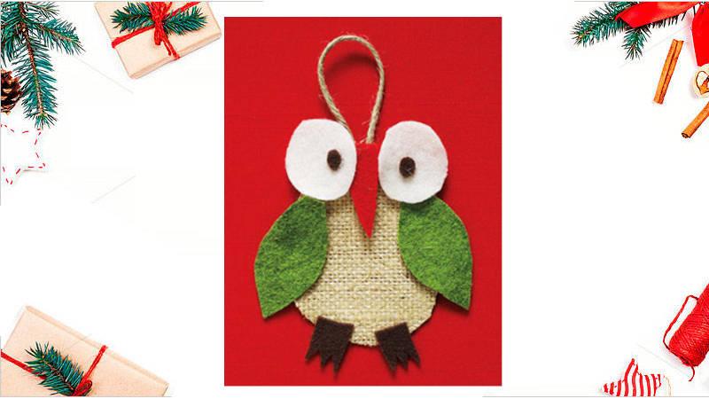 Haz tu propio adorno de la suerte de búho para esta Navidad