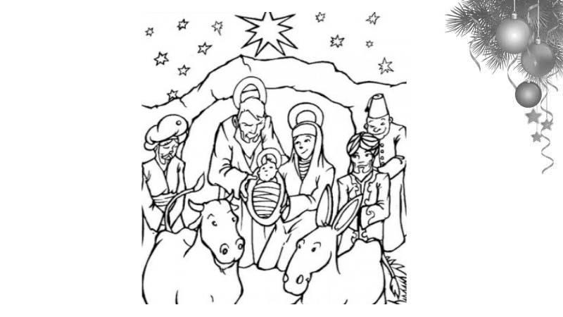 Divertidas tareas para nuestros niños en Navidad: Imágenes del Nacimiento para colorear