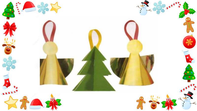 Crea hermosos ángeles navideños brillantes