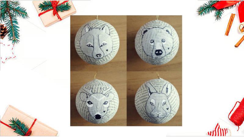 Cómo pintar animales en tus bolas navideñas
