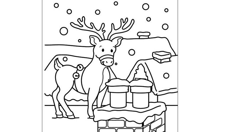 Reno navideño dibujo