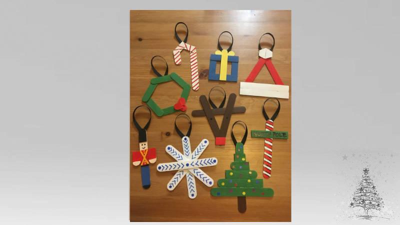Adornos de Navidad con paletas