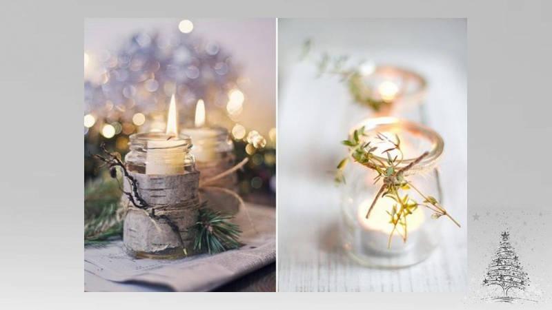 decora con velas en Navidad
