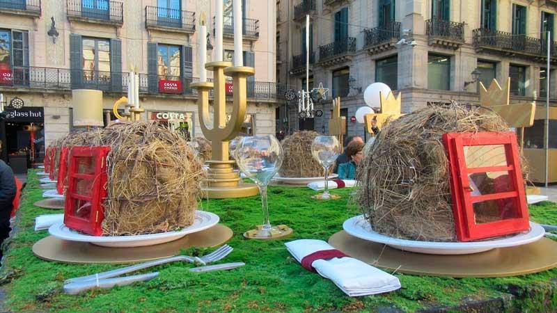 Platos típicos Navidad en Barcelona - ferias pesebres